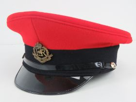 A Royal Military Police Service Cap by Compton Webb with original cardboard box, size 57.