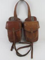 WWII German Cavalry saddle bags, Wersa 1941 Munchen.