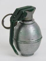 An inert British L2A1 training grenade.