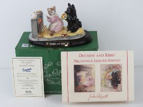 Royal Doulton Beswick Ware, Beatrix Potter; 'Duchess and Ribby Millenium Tableau,