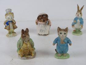 Beswick Beatrix Potter; Five figurines h