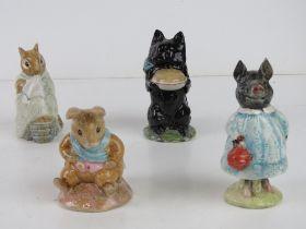 Beswick Beatrix Potter; four figurines b