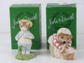 Royal Doulton Beswick Beatrix Potter; Two boxed figurines having brown 'B' shield backstamp,