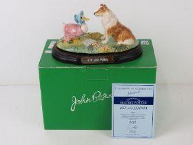 Royal Doulton John Beswick Beatrix Potter; 'Kep and Jemima', Ltd Edition modelled by Martyn Alcock,