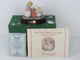 Royal Doulton Beswick Ware, Beatrix Potter; Mrs Tiggy-Winkle and Lucie, Limited Edition tableau,