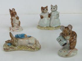 Royal Albert Beatrix Potter; Four figuri