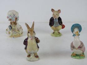 Beswick Beatrix Potter; Four figurines h