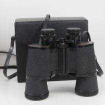 A pair of Prinz 10 x 50 binoculars in case.