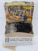 A vintage Airfix Paddle Steamer Engine kit, Series 6, motorised museum models.