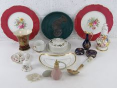 A set of three Royal Crown Derby napkin rings together with a Royal Crown Derby pin tray,