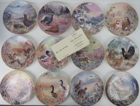 A set of twelve 'Game Birds of Britain' Wedgwood Compton and Woodhouse decorative plates,