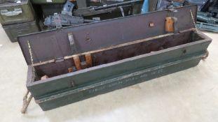 A Bren Gun transit box.