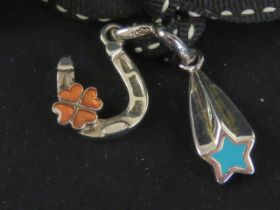 Links of London; two silver and enamel c