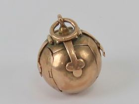 Freemasonry; a 9ct rose gold and silver
