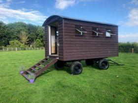 A superb, bespoke-built Shepherds Hut, Home Office, Mobile Garden Room, AirBnB or Glamping Pod.