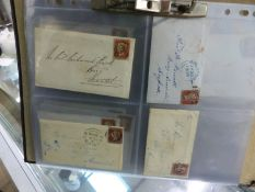 PENNY REDS ON COVERS WITH ORIGINAL LETTERS. 1849-1850 (15).