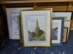 A GROUP OF FURNISHING PICTURES TO INCLUDE LANDSCAPES WATERCOLOURS, PRINTS, ETC.
