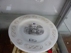 FOUR WEDGWOOD OUTLINES OF GRANDEUR PLATES WITH DESIGNS BY LAURENCE WHISTLER PRINTED IN BLACK