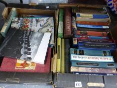 TWO BOXES OF VARIOUS FOLIO SOCIETY BOOKS.