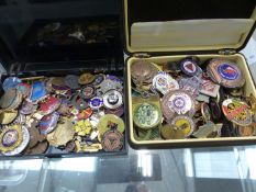 A COLLECTION OF BADGES, AND SPORT MEDALS.