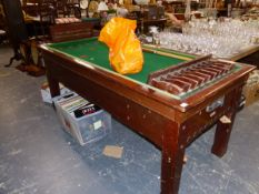 AN ATLAS CO LONDON BILLIARD AND TABLE TENNIS MARKERS BAR BILLIARDS TABLE.
