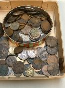 PREDOMINATELY VICTORIAN AND EDWARDIAN COINS, ONE PENNY, HALF PENNY, AND OTHER EXAMPLES ETC.