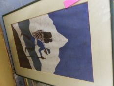 VARIOUS ANTIQUE AND LATER DECORATIVE PRINTS TOGETHER WITH SOME WATERCOLOURS.