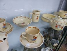 A COLLECTION OF DOULTON BUNNYKINS CHINA WARES.
