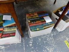 THREE BOXES OF VINTAGE BOOKS AND NOVELS.