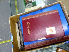 A QUANTITY OF GB AND COMMONWEALTH STAMPS IN ALBUMS, STOCK BOOKS ETC.