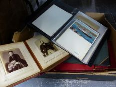 A COLLECTION OF VINTAGE PHOTOGRAPH AND SCRAP ALBUMS, CRUISE SHIP MENUS ETC.
