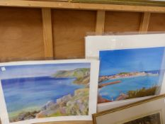 FOUR COLOUR LIMITED EDITION PENCIL SIGNED PRINTS OF LANDSCAPES BY COLIN TEW, UNFRAMED.