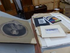 A LARGE FOLIO OF PRINTS AND PICTURES.