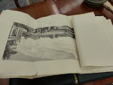 TWO FOLIOS OF ANTIQUE ENGRAVINGS AND OTHER PICTURES.