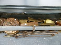 VINTAGE GOLF CLUBS, FIRESIDE IMPLEMENTS ETC.