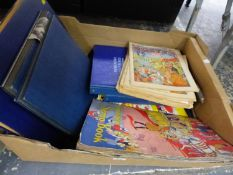 A QUANTITY OF VARIOUS SCRAP ALBUMS WITH ROYAL INTEREST NEWSPAPER CUTTINGS AND BUSTER COMICS AND A