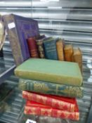 A COLLECTION OF VINTAGE BOOKS TO INCLUDE TOUCHES OF NATURE, BLEAK HOUSE, AND OTHERS.