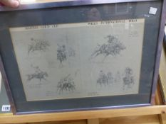 AFTER GEORGE EARL, THE POLO MATCH AT HURLINGHAM, A HAND COLOURED PRINT, TOGETHER WITH ANOTHER POLO