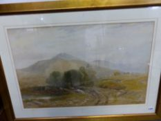 J.W.WITTAKER (19th C. SCHOOL) HAYING IN THE HIGHLANDS, SIGNED AND DATED 1875 WATRCOLOUR 48X75cms.