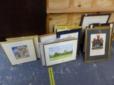 SIX PRINTS OF ALICE IN WONDERLAND, TOGETHER WITH VARIOUS FURNISHING PICTURES ETC.
