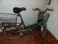 A SHOPPER BICYCLE.