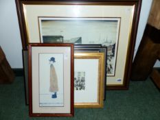 SIX VARIOUS PRINTS AFTER PAINTINGS BY LS LOWRY TOGETHER WITH OTHER VARIOUS PRINTS