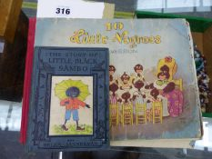 TWO RARE VINTAGE CHILDREN'S BOOKS, INCLUDING ONE BY HELEN BANNERMAN AND WATER TRIE, INCLUDING THE