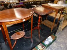 THREE OCCASIONAL TABLES.