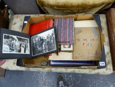 A QUANTITY OF VARIOUS VINTAGE PHOTO ALBUMS.