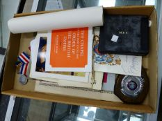 AN MBE MEDAL TO LOTTIE MASON, COMPLETE WITH BOX AND CERTIFICATE, THREE WW2 MEDALS, AND VARIOUS