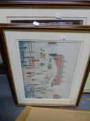 SIX COLOUR PRINTS AFTER LOWRY, SIZES VARY.