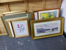 A GROUP OF FURNISHING PICTURES INC. LANDSCAPES, PORTRAITS ETC.