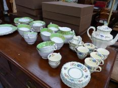 A COPELAND SPODE ROYAL JASMINE PATTERN PART COFFEE SET, TOGETHER WITH A FURTHER TEA SET.