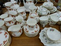 A BONE CHINA PART TEA SERVICE, AND AYNSLEY PEMBROKE PATTERN PART TEA SERVICE, PLATED CUTLERY ETC.